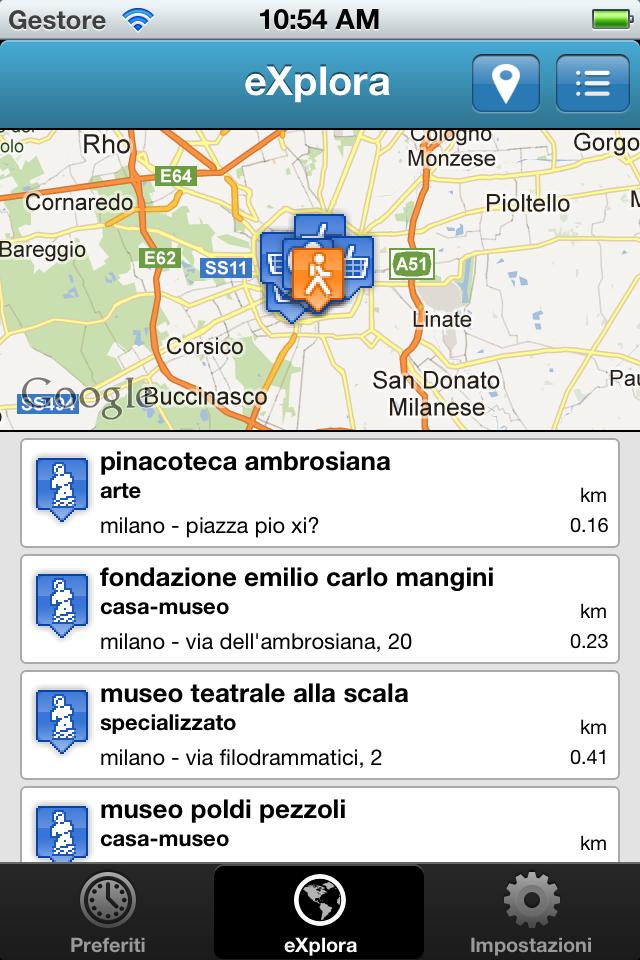 eXplora Lombardia – iPhone app per esplorare le risorse della Regione Lombardia