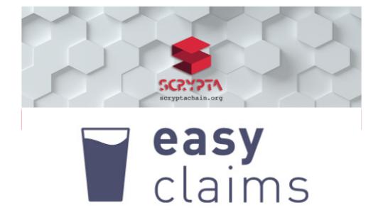 EasyClaims utilizza la blockchain Scrypta